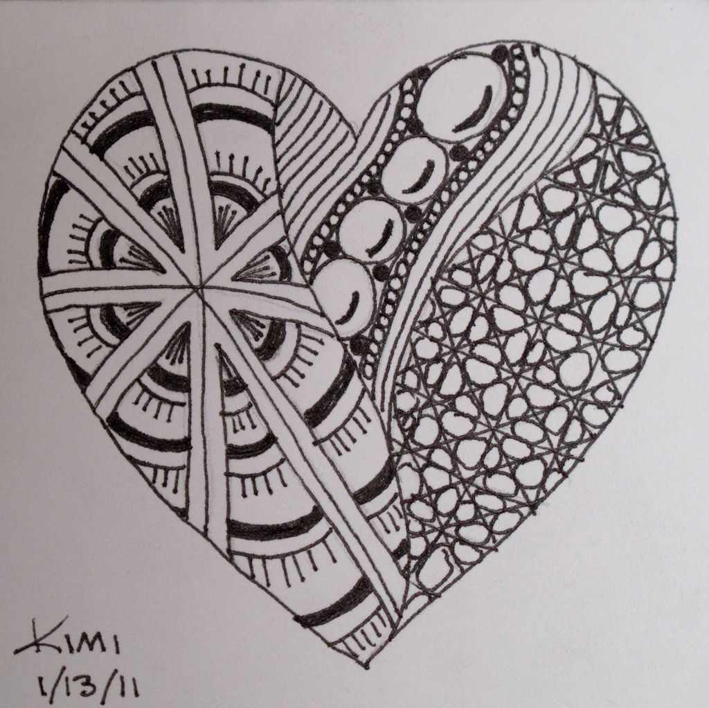 Line Drawing Zentangle : Zentangle challenge specifically use for teaching line as