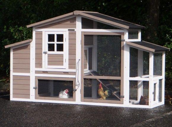 Kaninchenstall Leah Mit Legenest 206x75x120cm Tierhauser Hundehutten Kaninchenstall