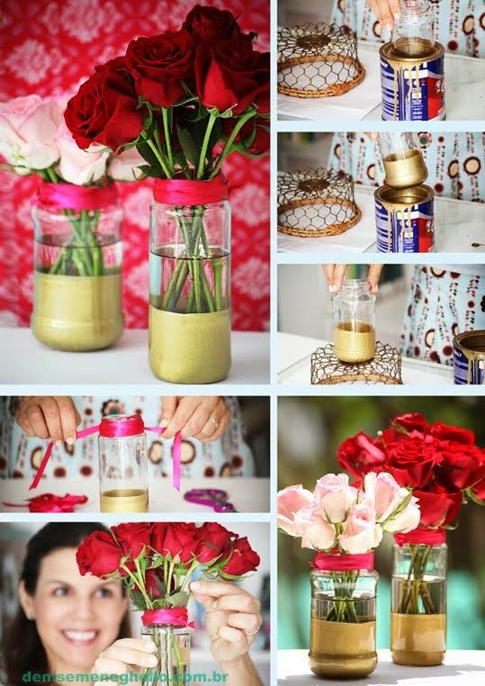 Recycling : How To Make a Glass Rose Vase
