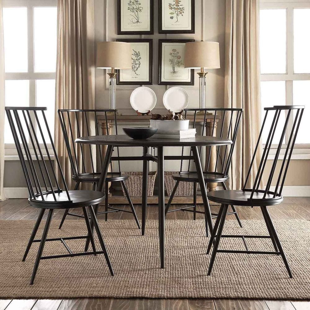 Create a casual and elegant dining area with the addition of thishigh back  Windsor side chair set from INSPIRE Q. The durablepowder-coated frame is  painted ...