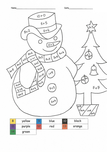 Christmas Maths Colouring Sheets Christmas Math Activities Math Coloring Maths Colouring Sheets