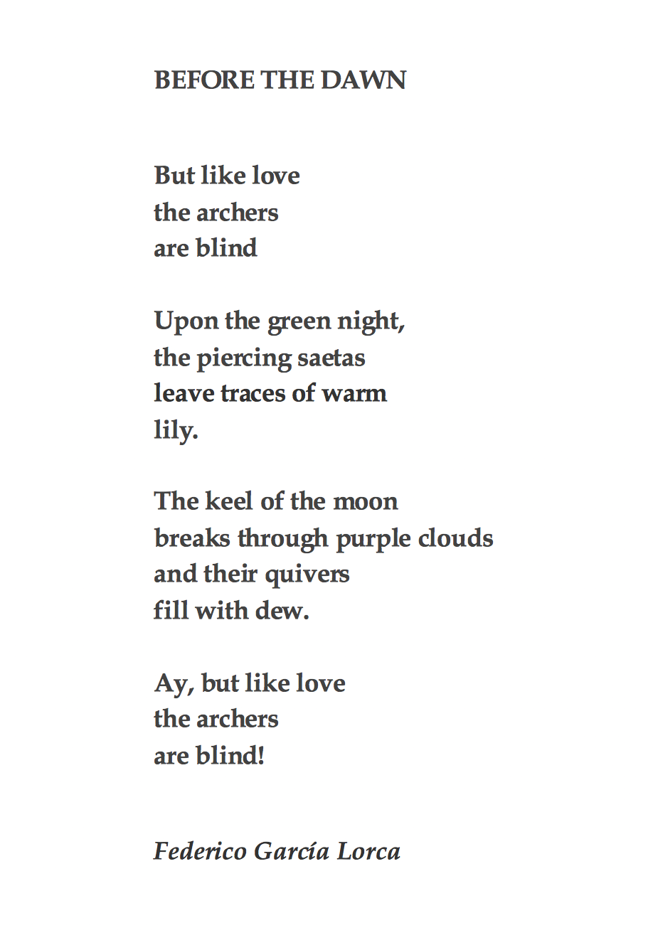 Garcia Lorca Poems 3
