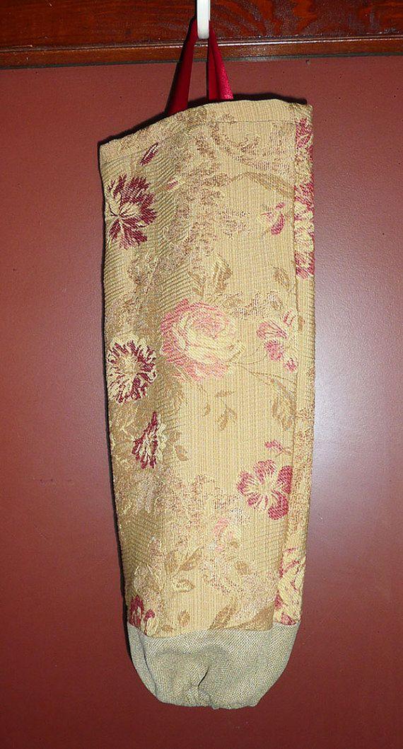 Plastic Bag Holder  Decorative Bag Holder  Antique by JollieSweets