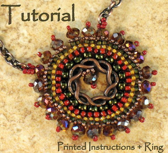 Tutorial & anello: cerchio collana di StickLizardDesigns su Etsy