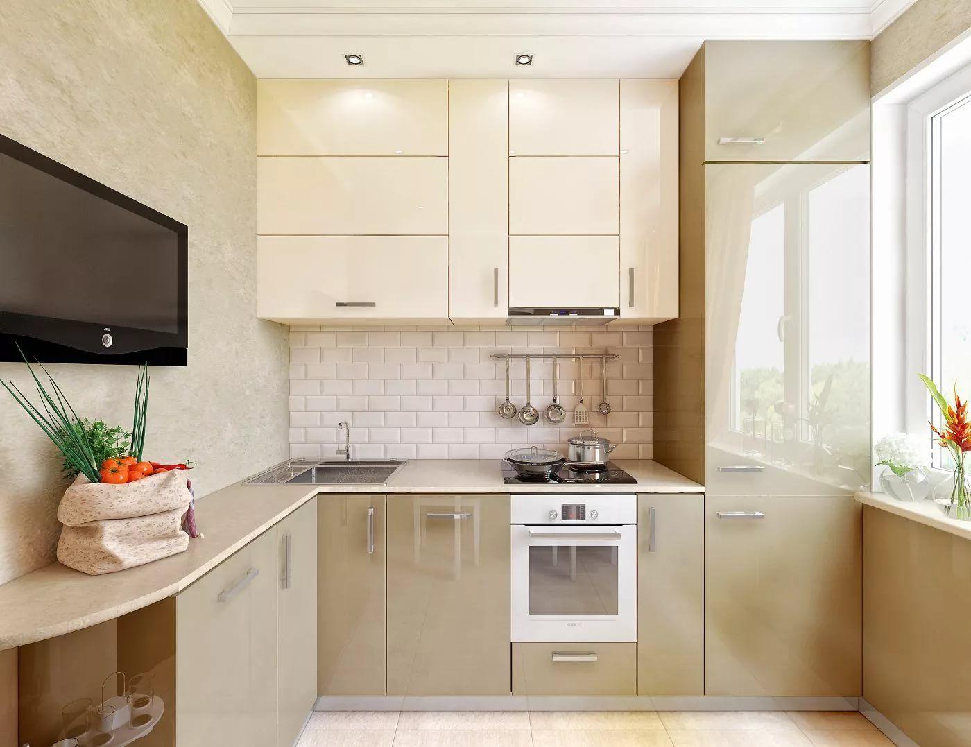 дизайн кухни 6 кв м фото хрущевка с холодильником: 12 тыс ...