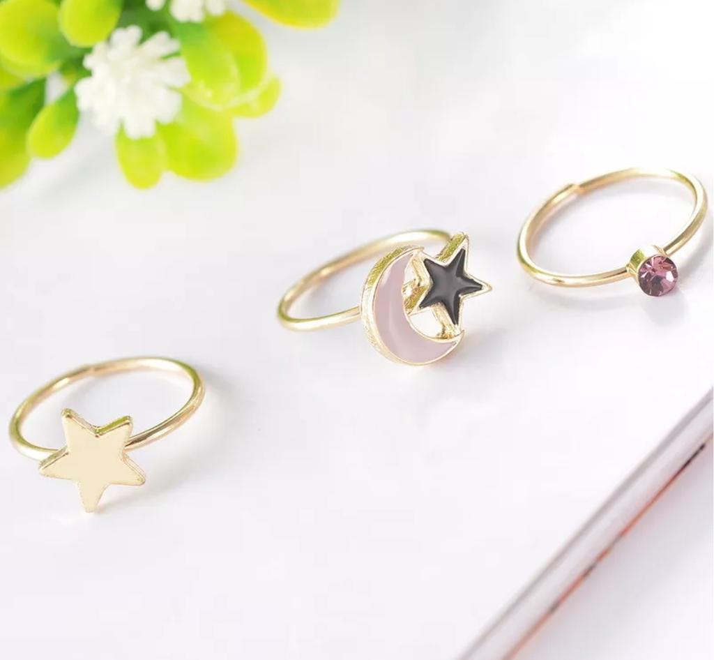 Boho Celestial Rings