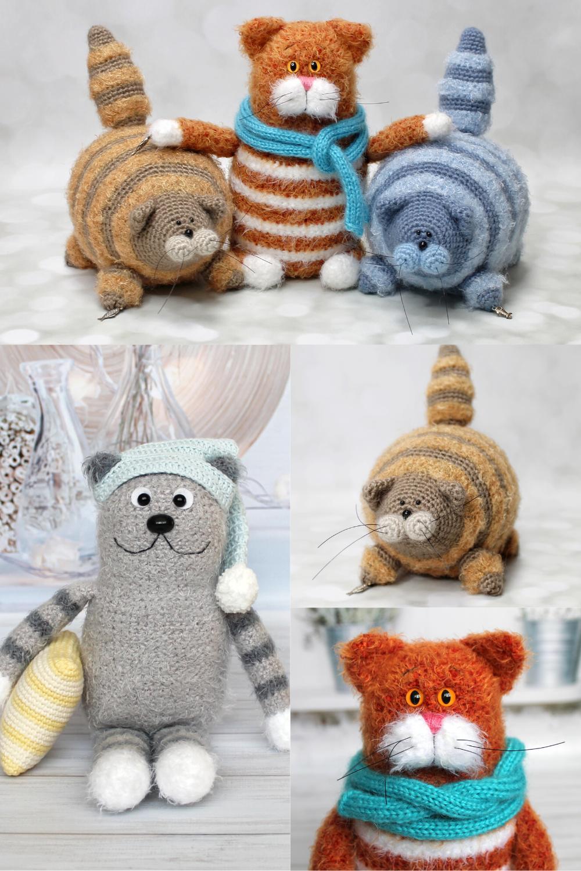 Crochet Fat Cat Stuffies Pattern | The Crochet Crowd | 1500x1000