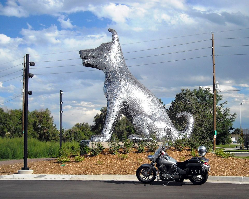 90 000 Dog Tags One Giant Dog Street Art Dog Sculpture Public Art