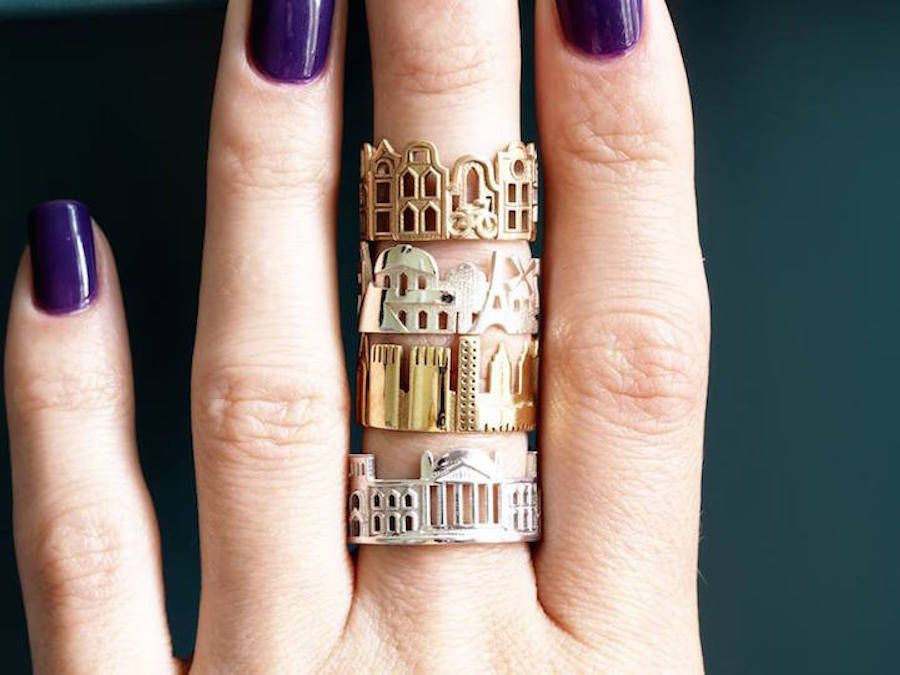 Architecture Rings Celebrating Iconic Skylines of Cityscapes