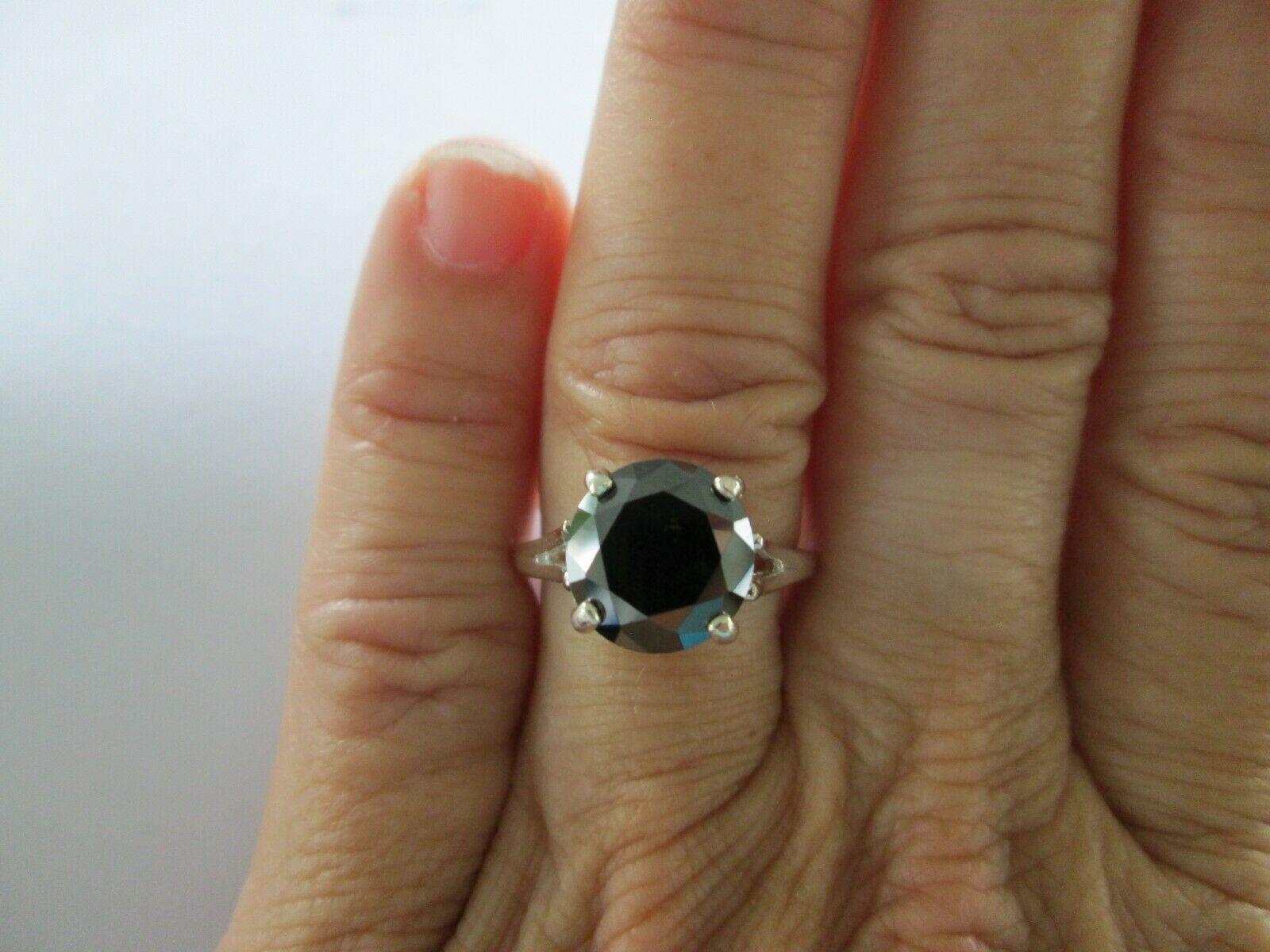 3 0ct Natural Black Diamond Ringcertificatefree Dia Tester Sizes 5678910 Black Diamond Ring Ideas Of Black Dia Black Diamond Ring Black Rings Diamond Rings