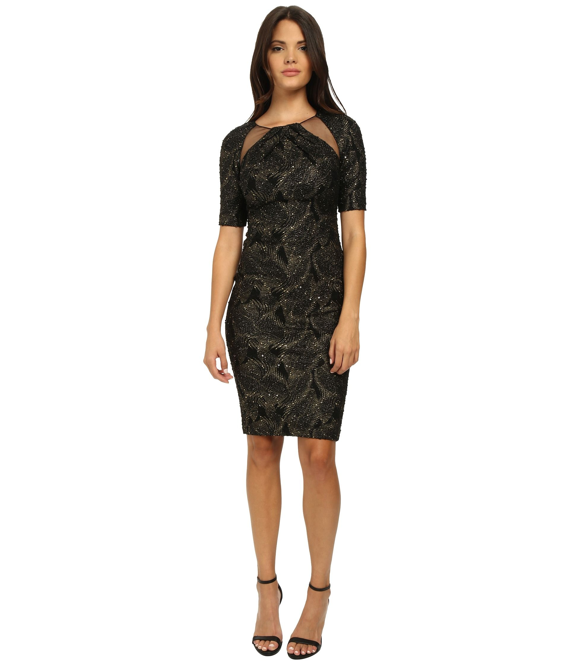 Pm cocktail dresses hum color dress pinterest black gold