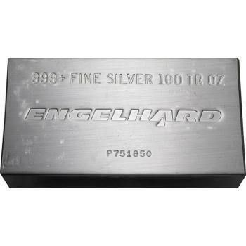 Buy Engelhard 100 Oz Silver Bar Online For 1 889 00 At Texas Bullion Exchange Silver Bars Buy Gold And Silver Silver