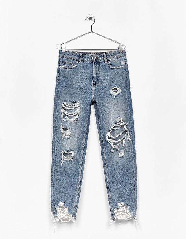 Novedades En Moda De Mujer Primavera Verano 2017 Bershka Jeans De Moda Moda Para Mujer Casual Pantalones Jeans De Moda