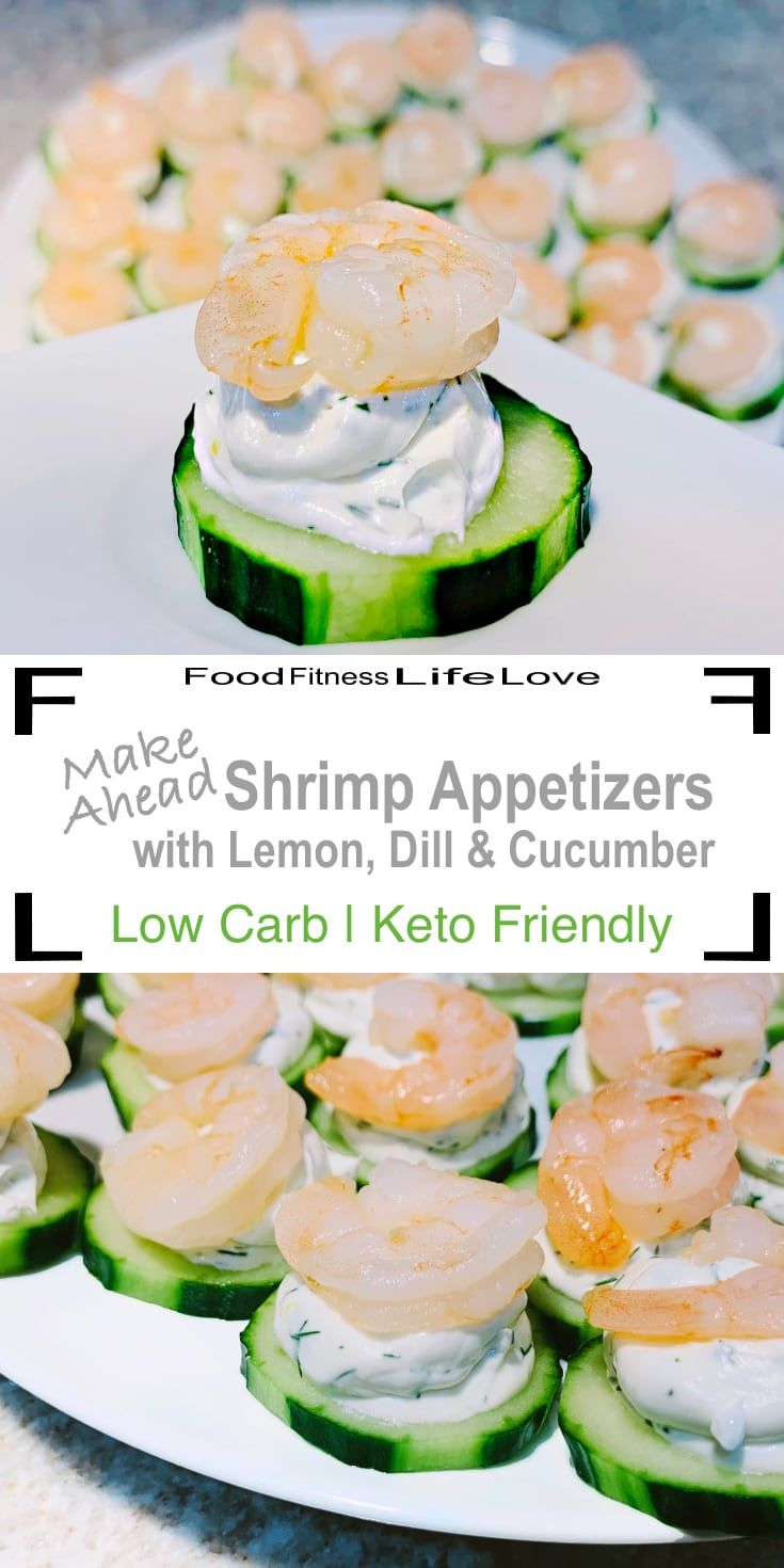 Make Ahead Shrimp Appetizers with Lemon, Dill and Cucumber ...