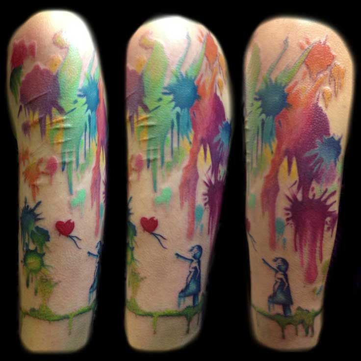 Abstract Tattoo Splash Colors Color Tattoo Tattoos Abstract