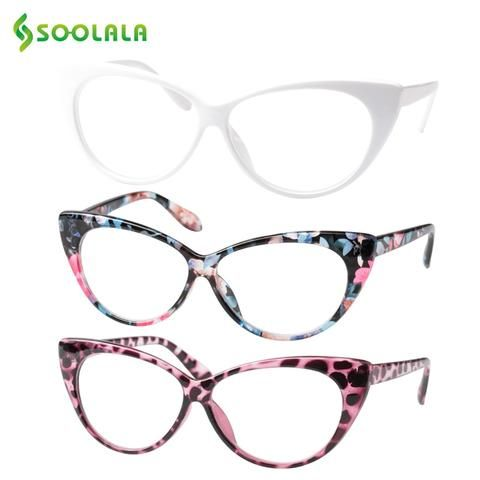 5eb6630877 SOOLALA 3pcs Cat Eye Reading Glasses for Women Reading Glasses +0.5 0.75  1.0 1.25 1.5 1.75 2.0 2.5 3.0 3.5 4.0 Gafas De Lectura