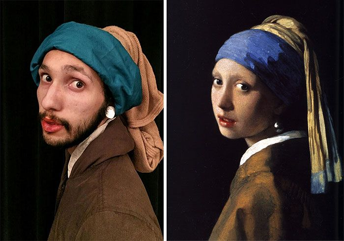 Two Bored Coworkers Recreate Famous Paintings Using Their Office Supplies