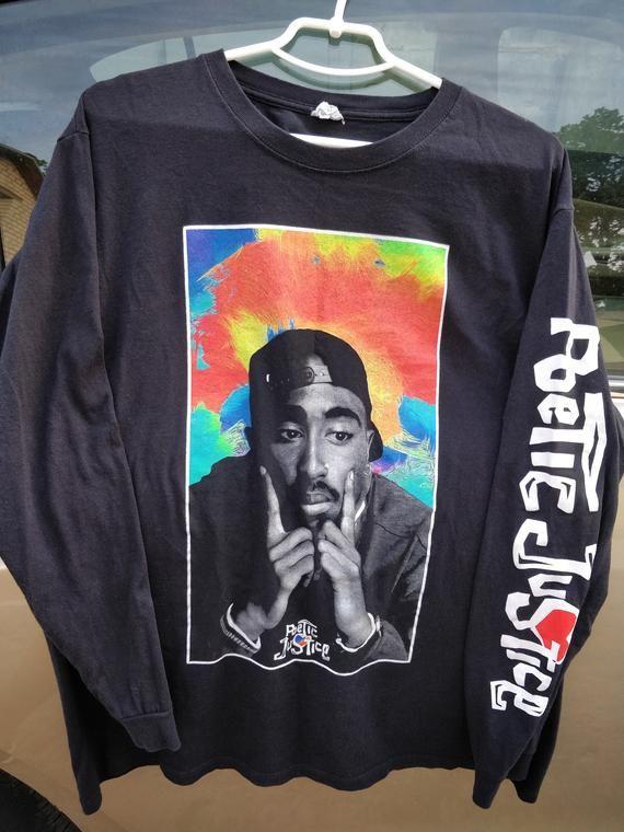 Tupac Shakur Poetic Justice Long Sleeve Shirt Men 2pac Etsy Long Sleeve Shirt Men Sleeve Shirt Men Mens Shirts