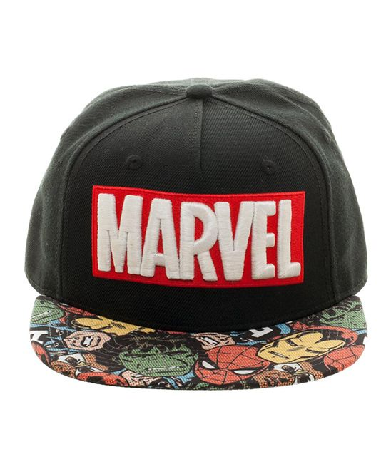 7df0f6e6392 Black Marvel Logo Baseball Cap Marvel Logo