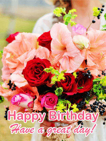 gorgeous birthday flower card flowers are the perfect gift to send to your loved one on her birthday if you cant send a real bouquet or you want to add a - Happy Birthday Cards Flowers