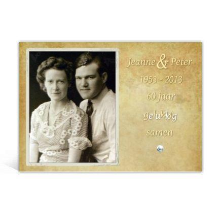50 jaar getrouwd diamant Een uitnodiging voor een diamanten huwelijk | uitnodigingen maken  50 jaar getrouwd diamant