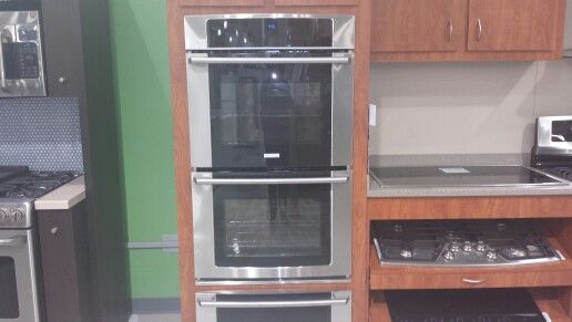 Electrolux double wall ovens.