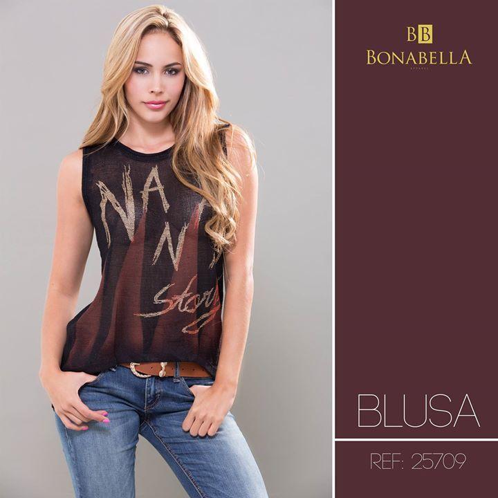 Un estilo auténtico y juvenil. Precio Blusa: http://bonabella.com.co/producto/blusa-25709/