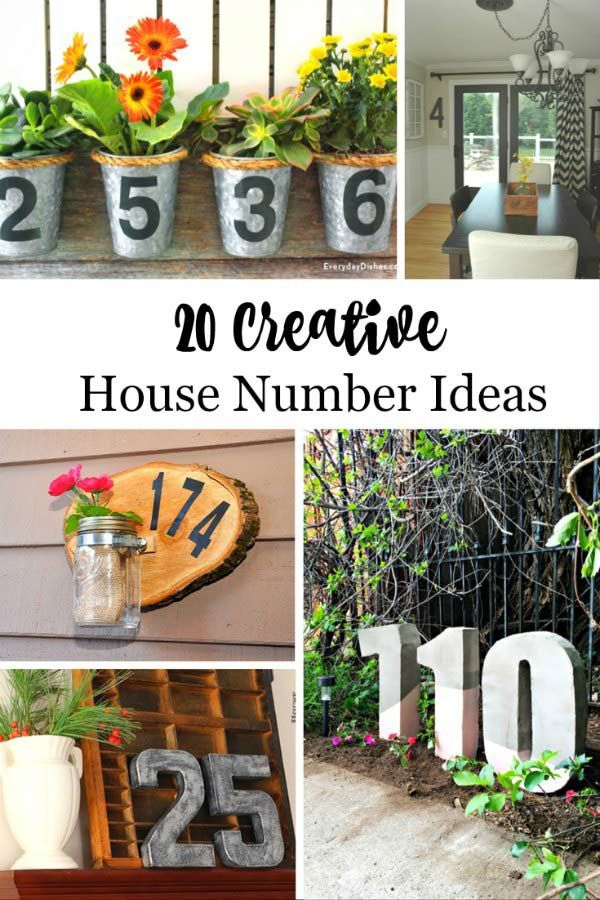 20 Creative Diy House Number Ideas House Numbers Diy House