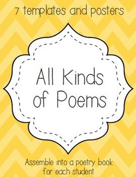 all kinds of poems haiku cinquain free verse acrostic diamante
