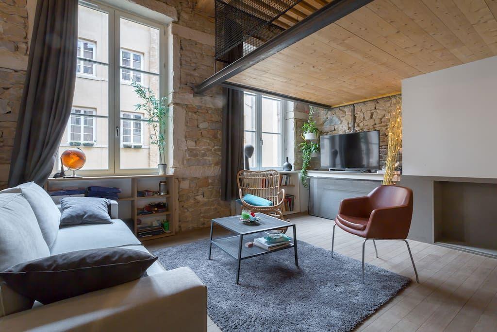 Regardez Ce Logement Incroyable Sur Airbnb Duplex Le Vorace Appartements A Louer A Lyon Idee Chambre Acheter Un Appartement