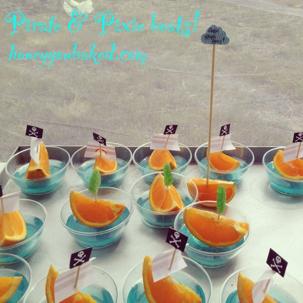 Party Jelly Ideas: Pirate And Pixie Jelly Boats Great For Kids Parties! For