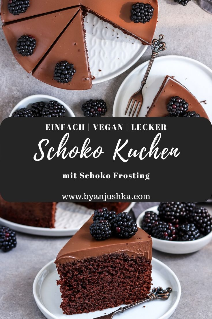 Veganer Schokokuchen mit Schoko Frosting