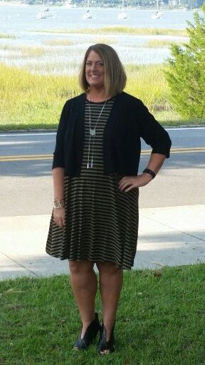 Dress ~ Old Navy.  Booties ~ Nine West.  Necklace ~ Ann Taylor Loft.