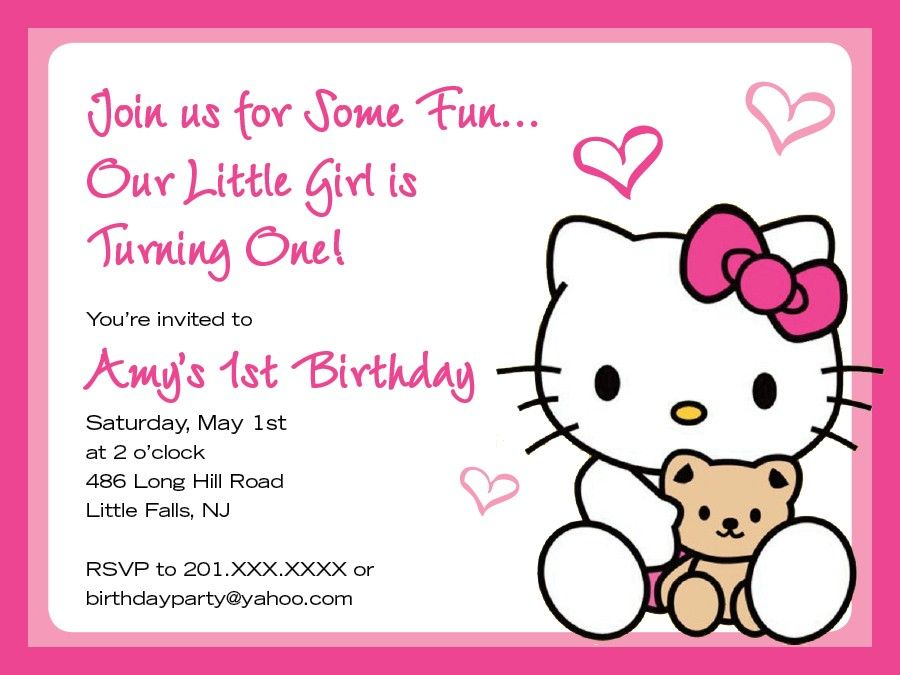 Hello Kitty Birthday Invitations Blank Yahoo Image Search - Free hello kitty birthday invitation templates