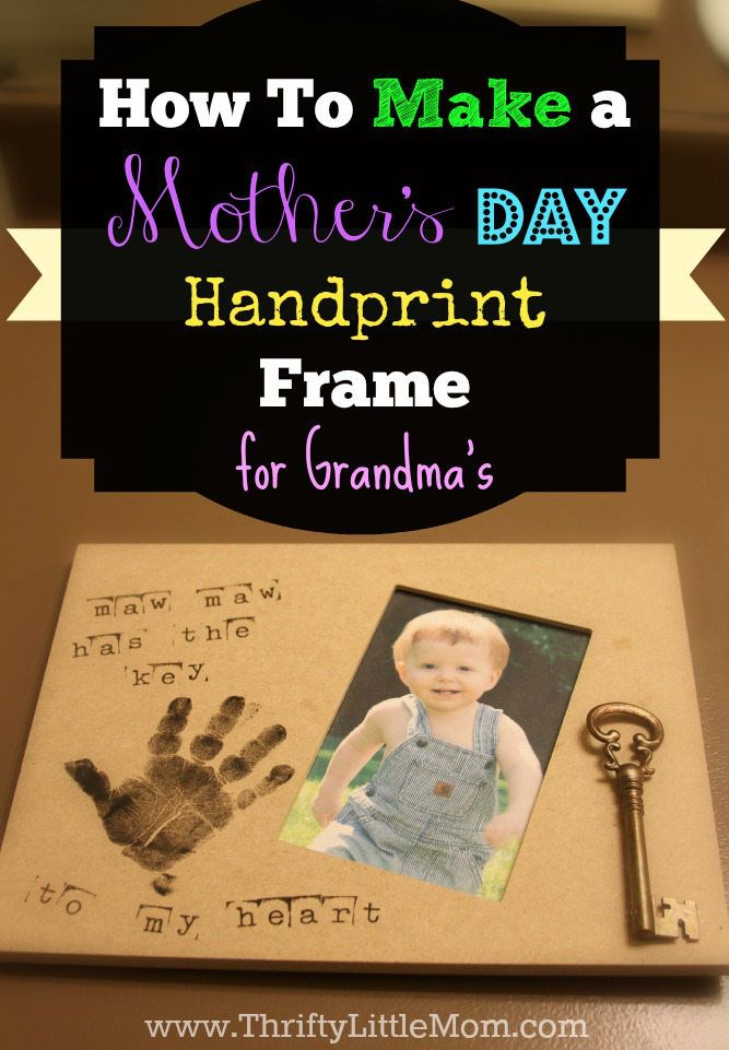 Make A Mother 39 S Day Handprint Frame Simple Projects