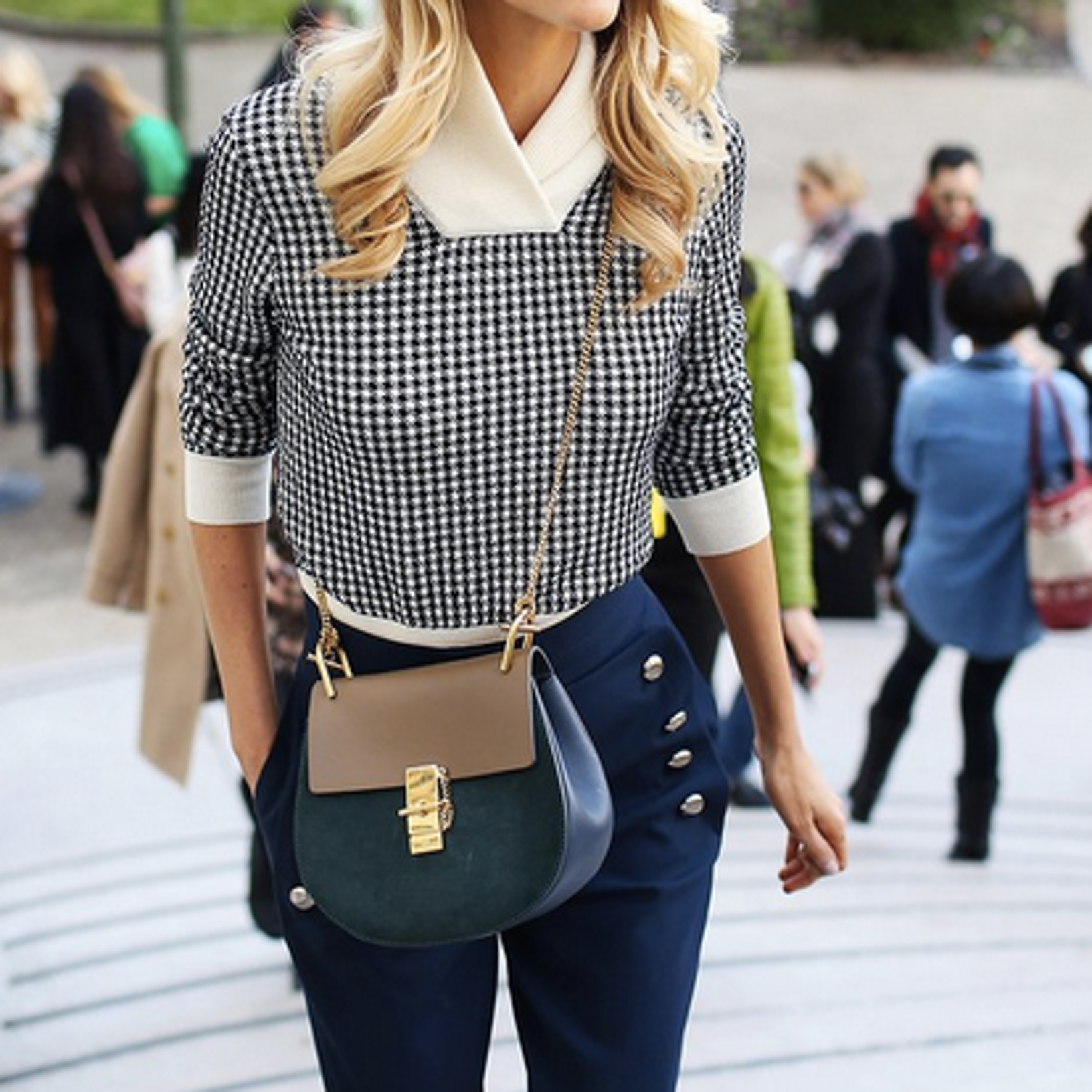 *Houndstooth wool-blend sweater n from Chloé   PS Dept.