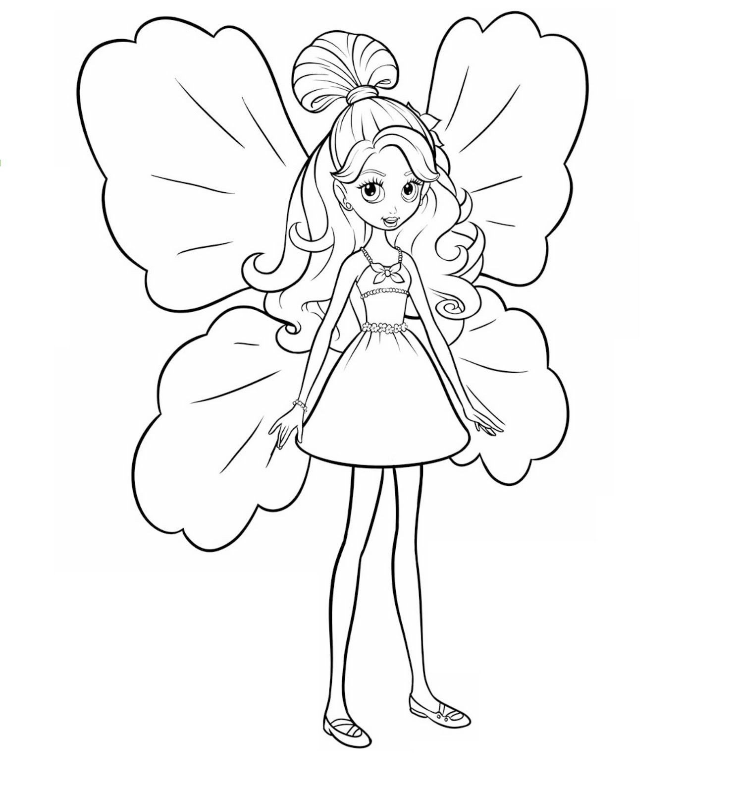 fairy girl | Barbie coloring pages, Fairy coloring pages ...