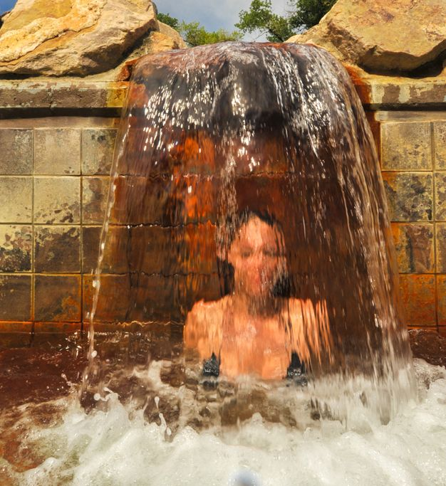 Hot mineral waterfall. Crystal Hot Springs, Honeyville ...