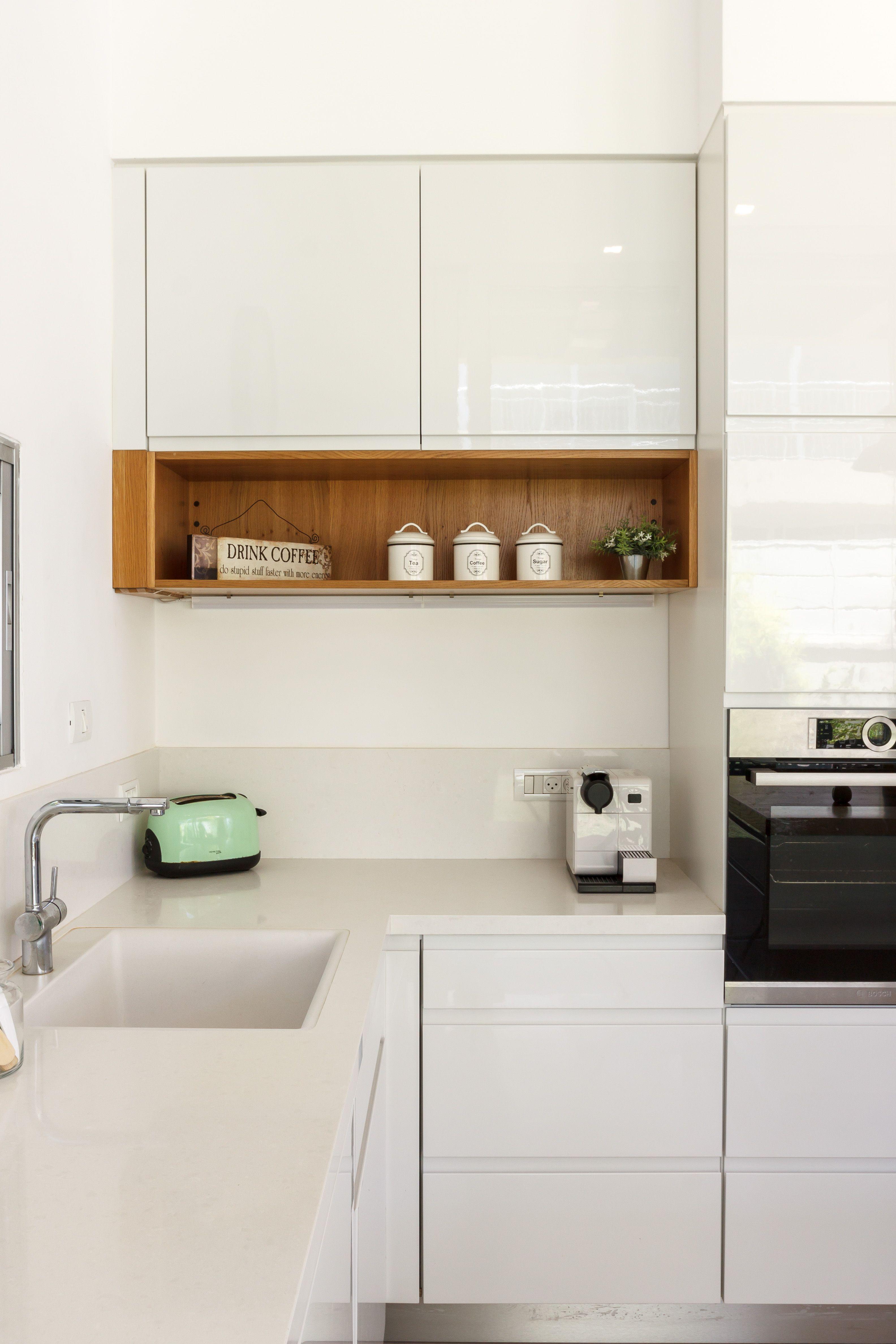 Best עיצוב מטבח מודרני עם מדף עץ Modern Kitchen Design Home 640 x 480