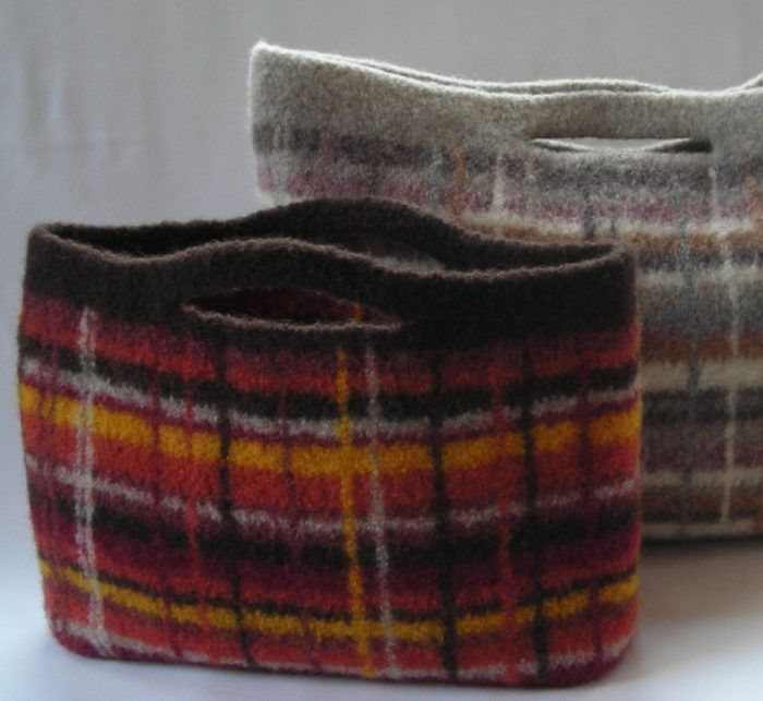 Knitting Pattern for Portland Plaid City Clutch - Felted bag can be ...