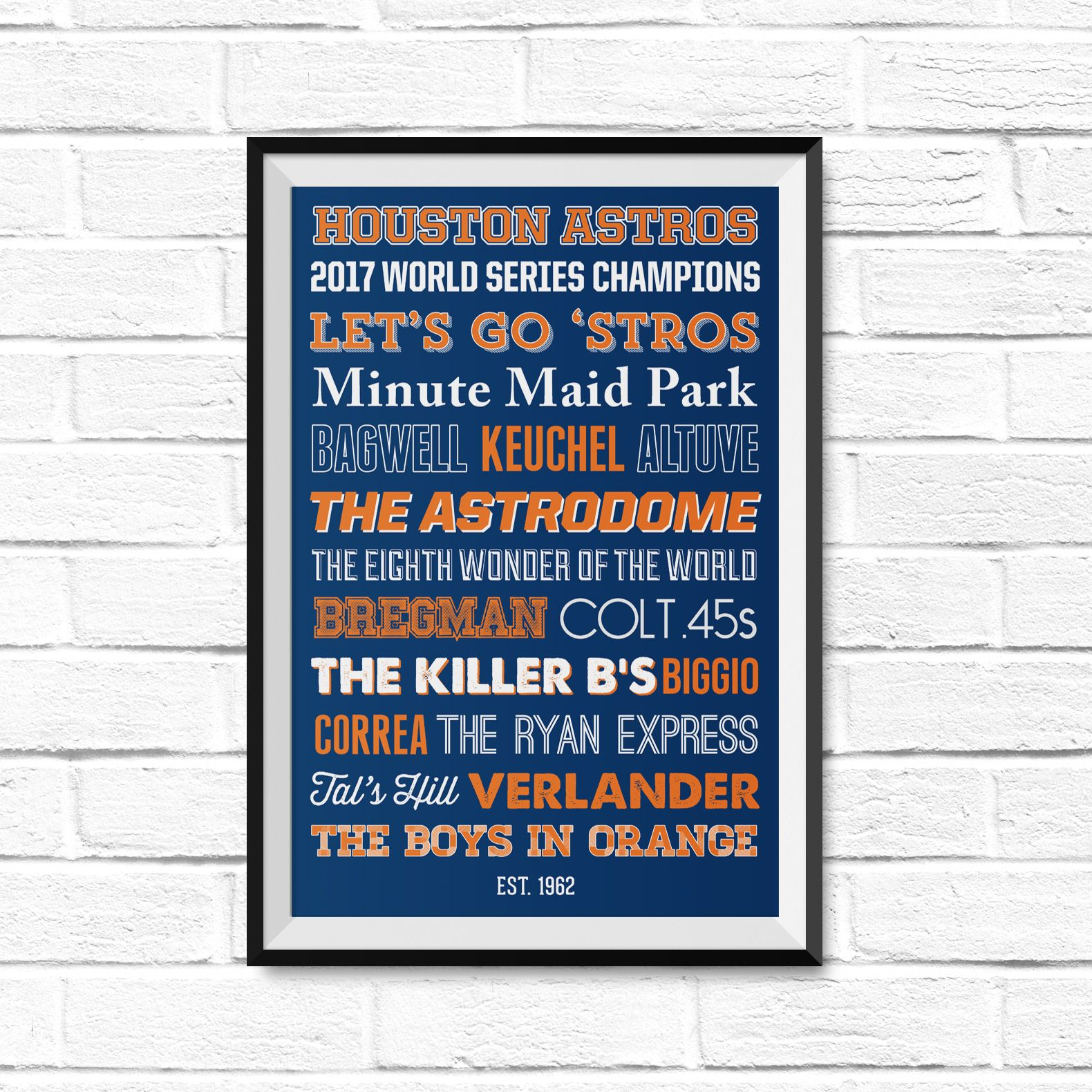 Houston astros world series champions poster astros