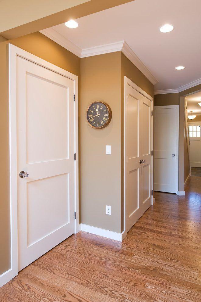 Glass Door Knobs Hall Traditional With Two Panel Shaker Door Interior Doors