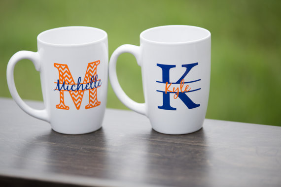 chevron monogram mugs custom coffee mugs personalized mugs with