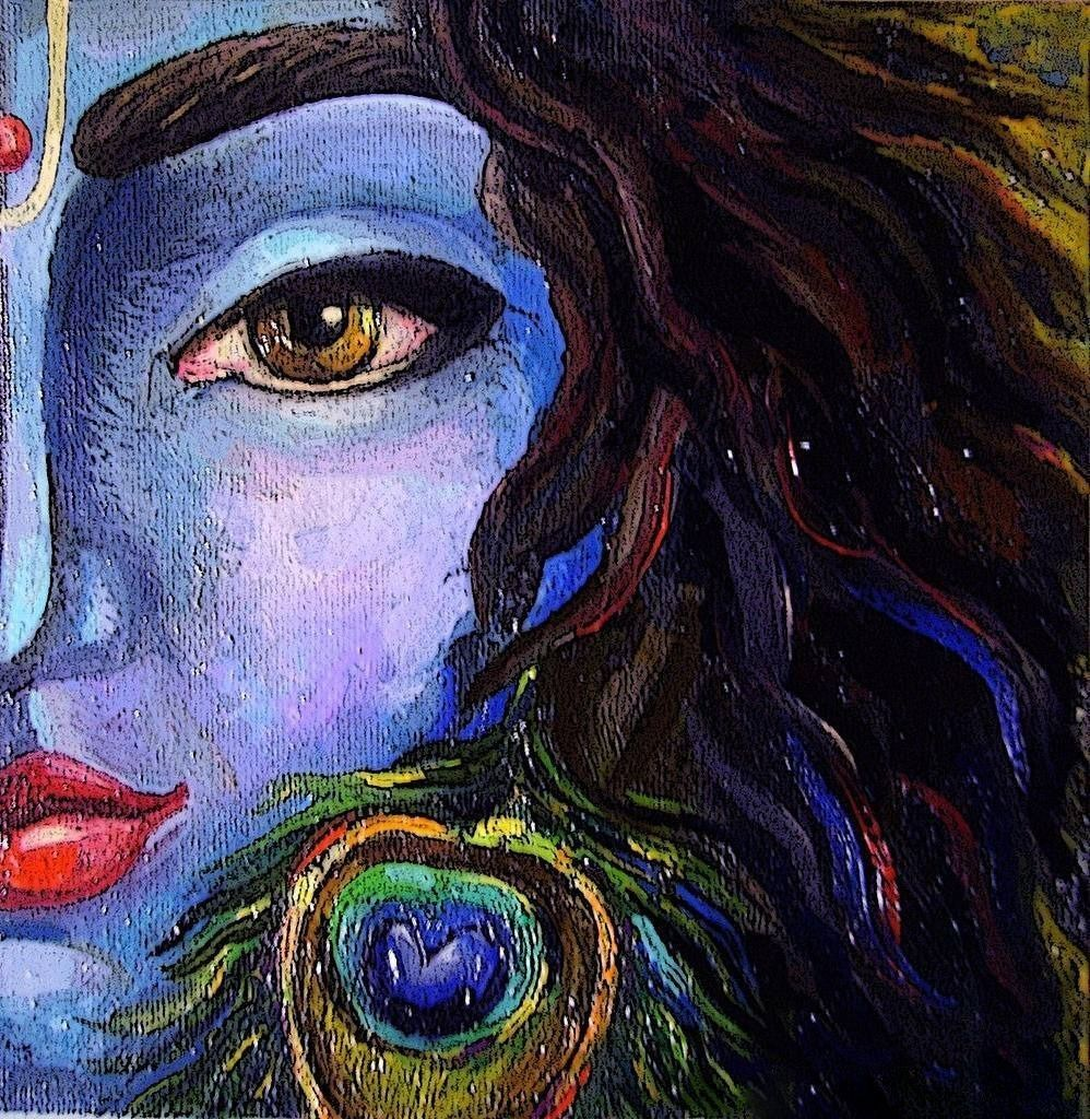 Pin By Geetha Palakkal On Radha Sametha Krishna Krishna Painting Krishna Art Radha Krishna Art