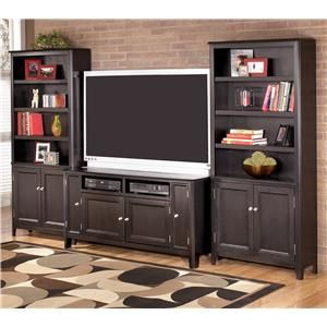 Ashley Furniture Carlyle 60 Inch Tv Stand 2 Large Door Bookcases W371 38 2xh371 18 All Entertainment Center