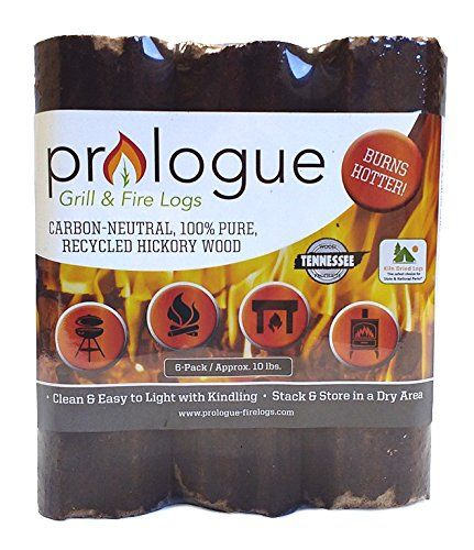 Prologue Grill Fire Logs 6 Pack 8 Logs 10 Lbs Click On The