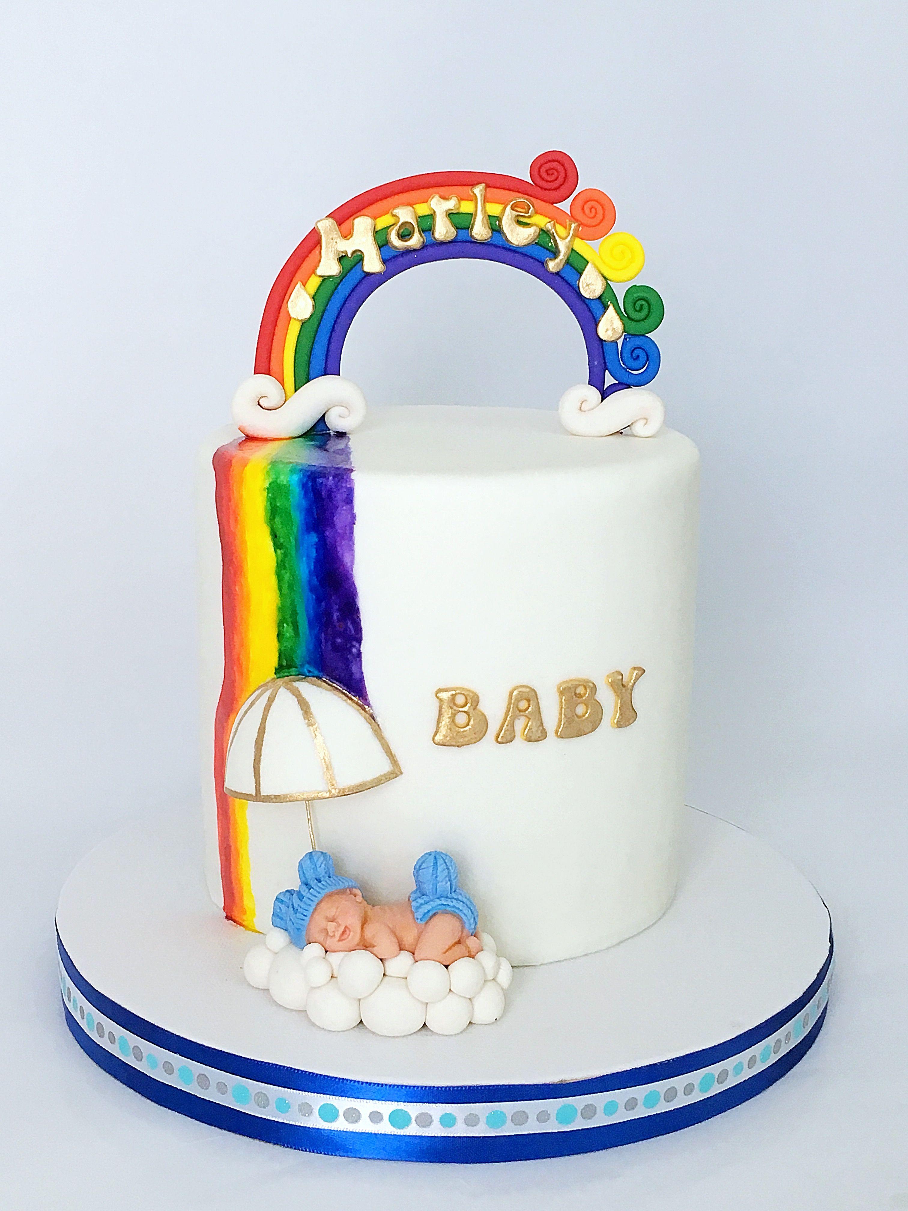 Rainbow Baby Shower Cake Mimi s Sweet Treats