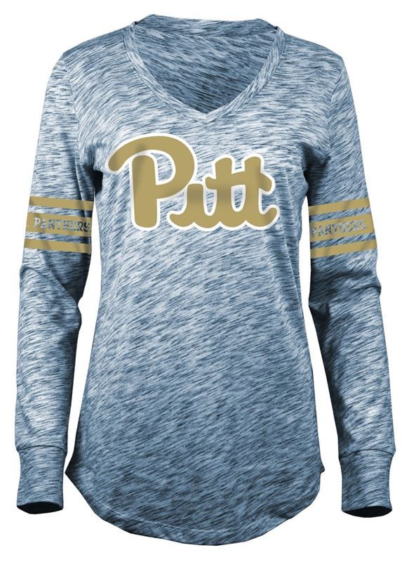 separation shoes c66eb 7d887 Pitt Panthers Women's Long Sleeve Football Tee by 5th ...