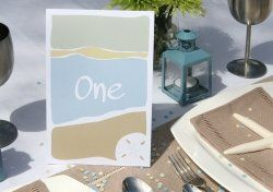 Table markings or even invitation or save the date idea