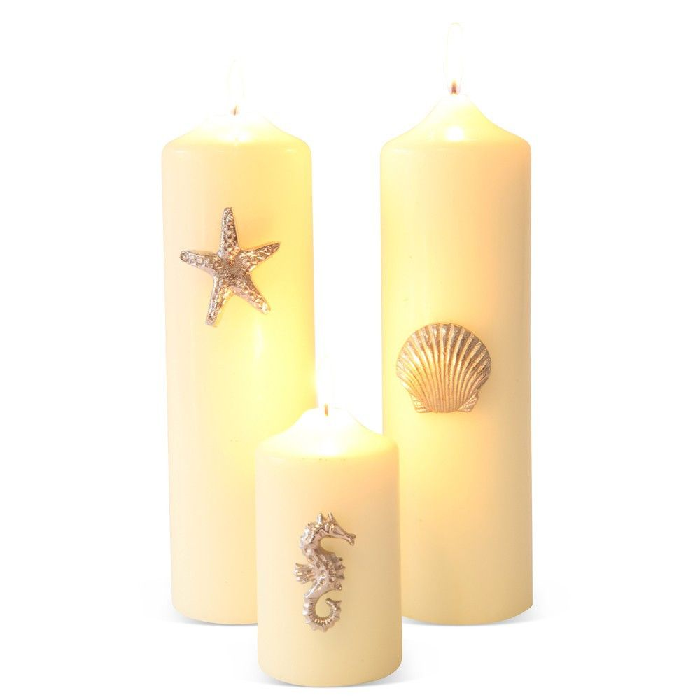 Gifts set of mixed seashore candle pins what a great way to
